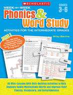 Week by week phonics & word study  activities for the intermediate gr