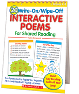 20 write-on/wipe-off interactive  poems shared reading flip chart
