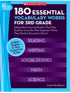 180 essential vocabulary words for  3rd gr