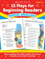 15 plays for beginning readers  famous americans gr 1-2