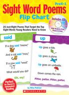 Sight word poems flip chart