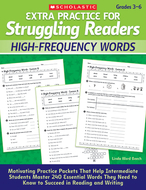 Extra practice for struggling  readers high frequency words
