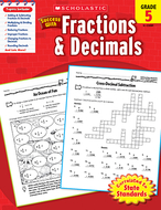 Scholastic success with fractions &  decimals gr 5