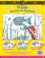 Scratch & sparkle soft-scratch  glitter board 30 shts/pkg white