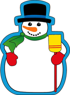 Notepad large snowman