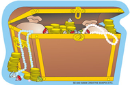 Creative shapes notepad treasure  chest mini