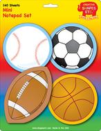 Sports set mini notepad