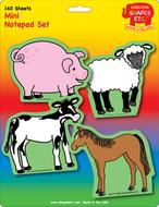 Farm animals set mini notepad
