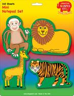 Zoo animals set mini notepad