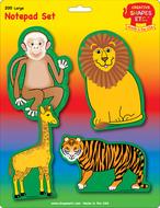 Zoo animals set large notepad