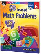 50 leveled math problems level 6  w/ cd