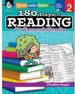 180 days of reading book for second  grade