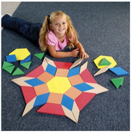 Giant soft foam floor pattern  blocks