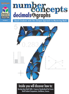 Middle school math collection  number concepts decimals & graphs