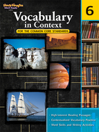 Gr 6 vocabulary in context for the  common core standards