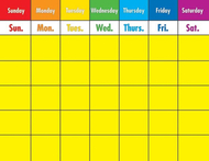 Colorful calendar laminated  chartlet