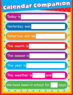 Calendar companion laminated  chartlet