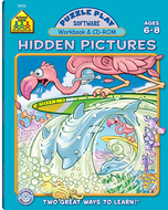 Puzzle play hidden pictures  software & workbook