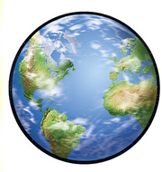 Classic accents planet earth 36/pk  5 x 5