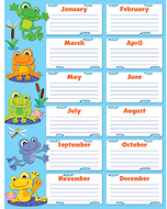 Funky frogs birthday chart