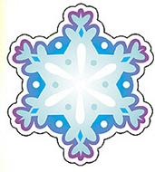 Mini accents snowflake 36/pk 3in