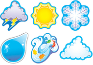 Weather symbols/mini variety pk  mini accents