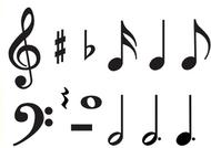 Classic accents music symbols  variety pks