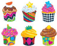 Bake shop cupcakes classic accents  variety pack