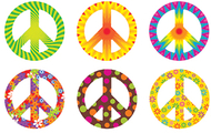 Peace signs patterns classic  accents variety pack
