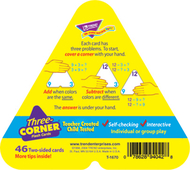 Three-corner flash cards 48/pk  addition & subtraction