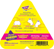 Three-corner flash cards 48/pk  multiplication & division