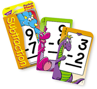 Pocket flash cards 56-pk 3 x 5  subtraction two-sided cards