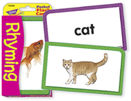 Pocket flash cards rhyming 56-pk  3 x 5 two-sided cards