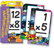 Pocket flash cards multiplication  multiplicacion