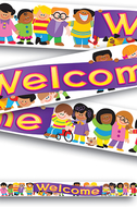 Banner welcome trend kids 10ft  horizontal