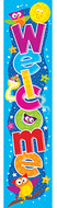 Welcome owl stars quotable 5ft  expressions banner vertical