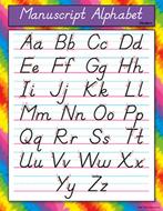 Chart manuscript alphabet modern