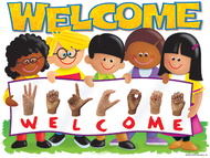 Chart sign language welcome trend  kids