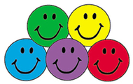 Superspots stickers colorful 800/pk  smiles acid-free