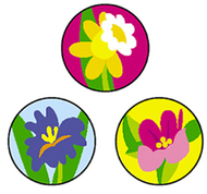 Superspots stickers spring flowers