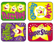 Applause stickers super 100/pk  stars acid-free