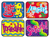 Applause stickers wonderful 100/pk  words acid-free