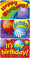 Applause stickers birthday 30/pk  time acid-free larger size