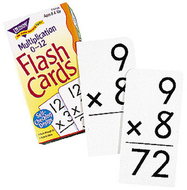 Flash cards multiplication 91/box  numbers 0-12