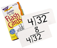 Flash cards division 0-12 91/box