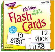 Flash cards all facts 156/box 0-12  division