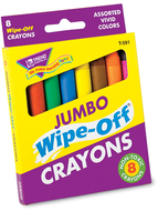 Wipe-off crayons jumbo 8/pk