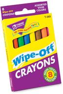 Wipe-off crayons regular 8/pk