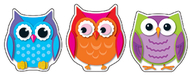 Colorful owls cut outs 36ct