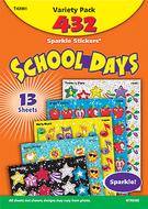 Sparkle stickers school days